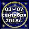 Гороскоп азарта на неделю - с 03 по 09 сентября 2018